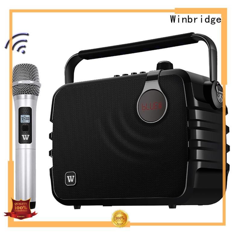 Winbridge amplifier karaoke speaker with mic high end for street performance