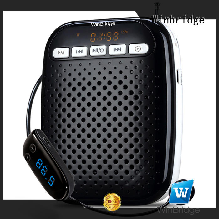 teacher voice amplifier portable microphone speaker waterproof Winbridge Brand voice enhancer