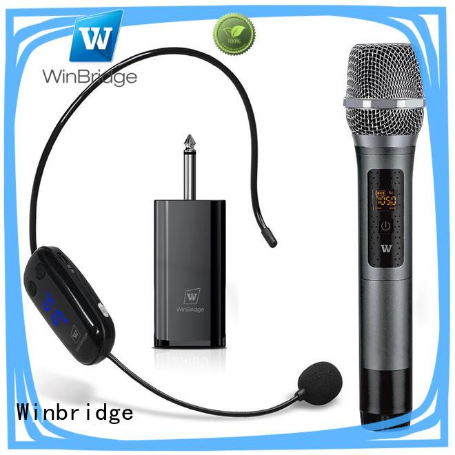 Winbridge wireless lapel microphone supply for speech