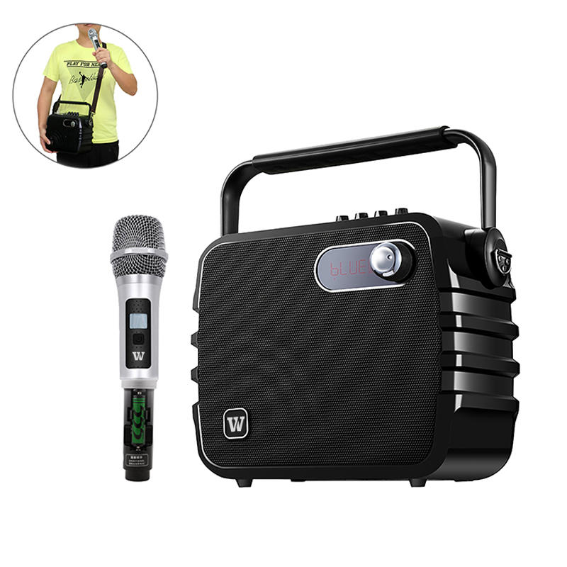 Hot multifunction karaoke speaker microphone remote control Winbridge Brand