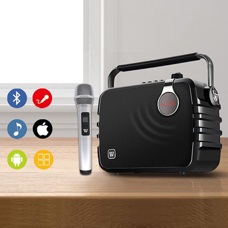 Winbridge karaoke microphone and speaker maker for dance-8