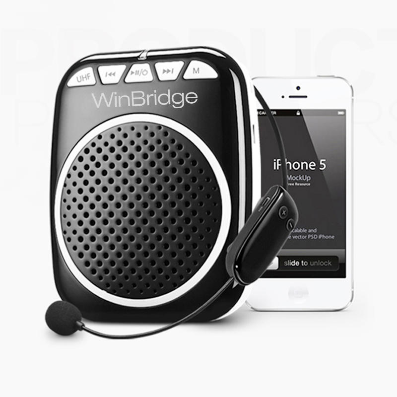 winbridge mini wired Winbridge Brand teacher voice amplifier portable microphone speaker factory