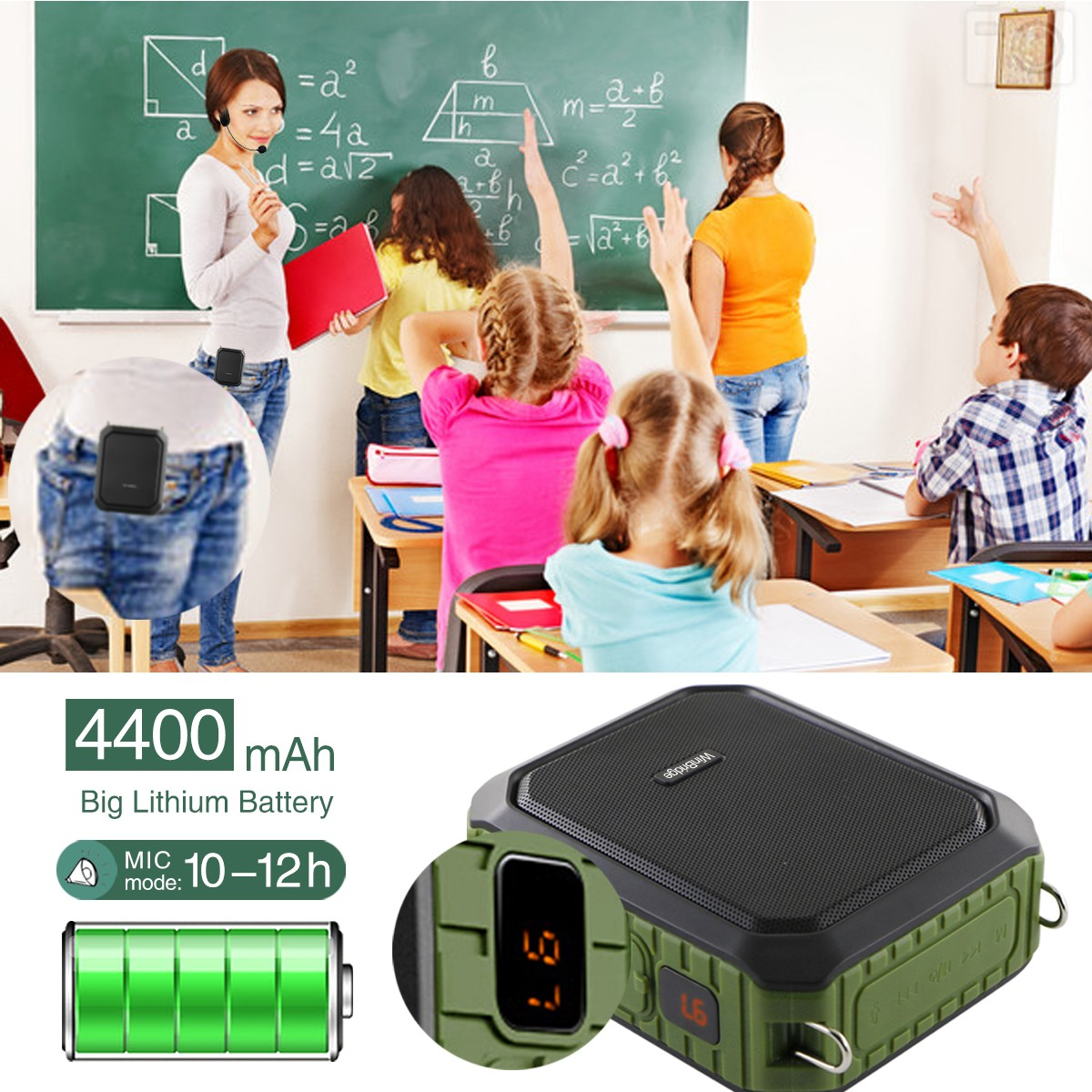Winbridge custom wireless voice amplifier for teachers supplier wholesale-8