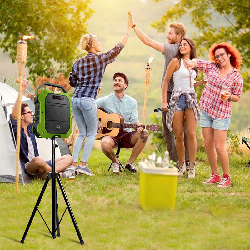 Winbridge portable karaoke microphone and speaker manufacturer for street performance-6