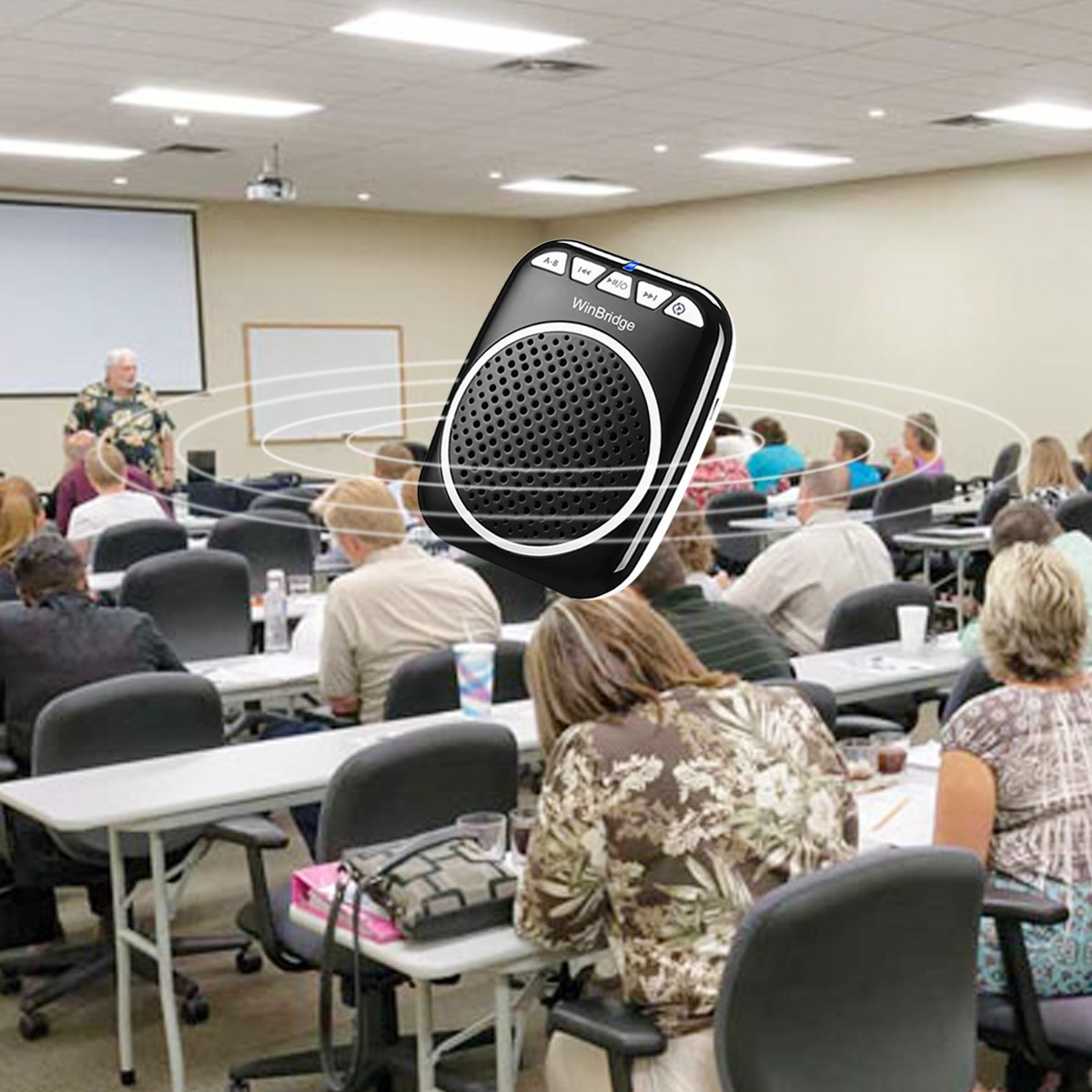 Winbridge mini voice amplifier for classroom with waistband wholesale-10