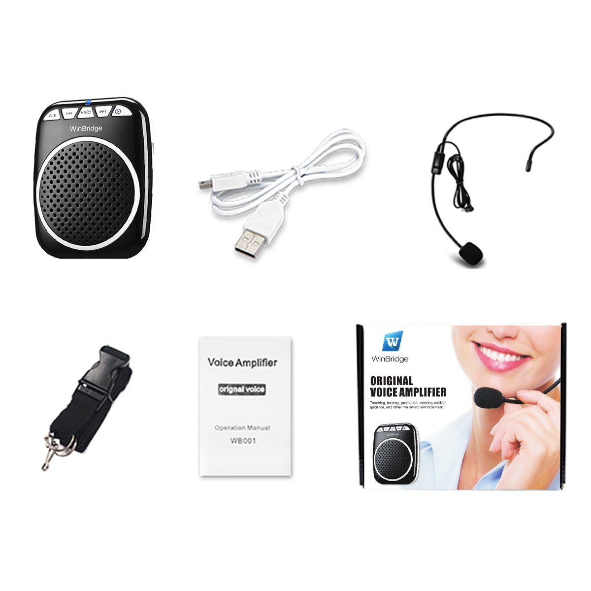 Winbridge mini voice amplifier for classroom with waistband wholesale-15