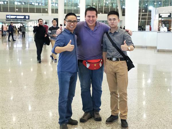 Peru client Angel came to Shenzhen