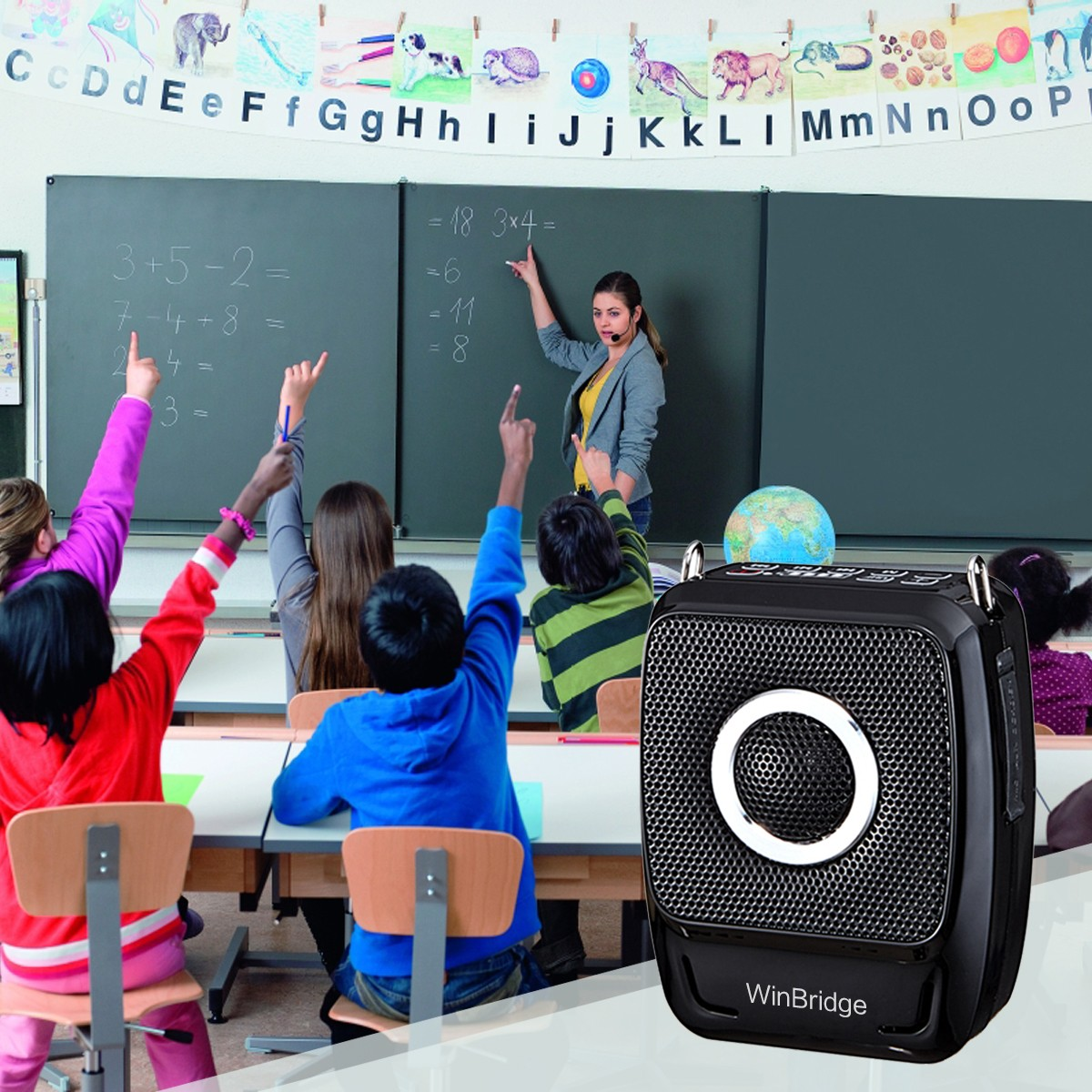 Winbridge latest voice amplification devices with waistband for teacher-6
