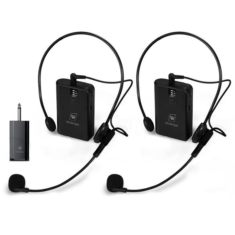 Super Sensitive Winbridge WB030 UHF Dual Wireless  Conference Microphone  With Receiver