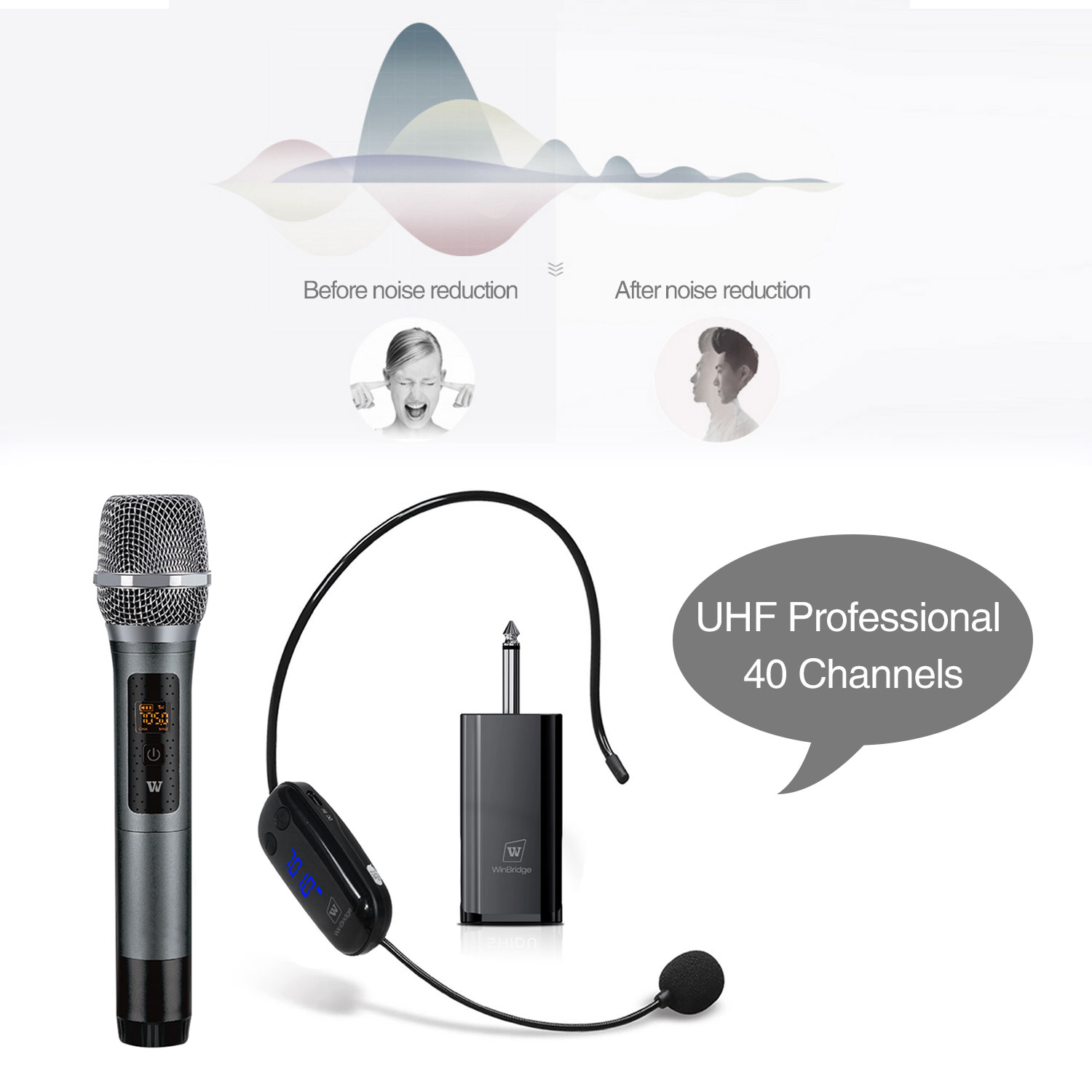 Winbridge wireless lapel microphone supplier for speech-13