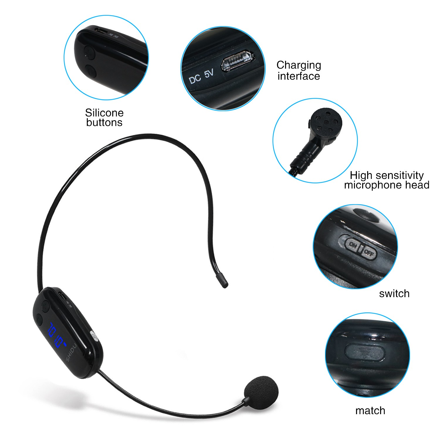 headset wireless lapel microphone supply for sale-2