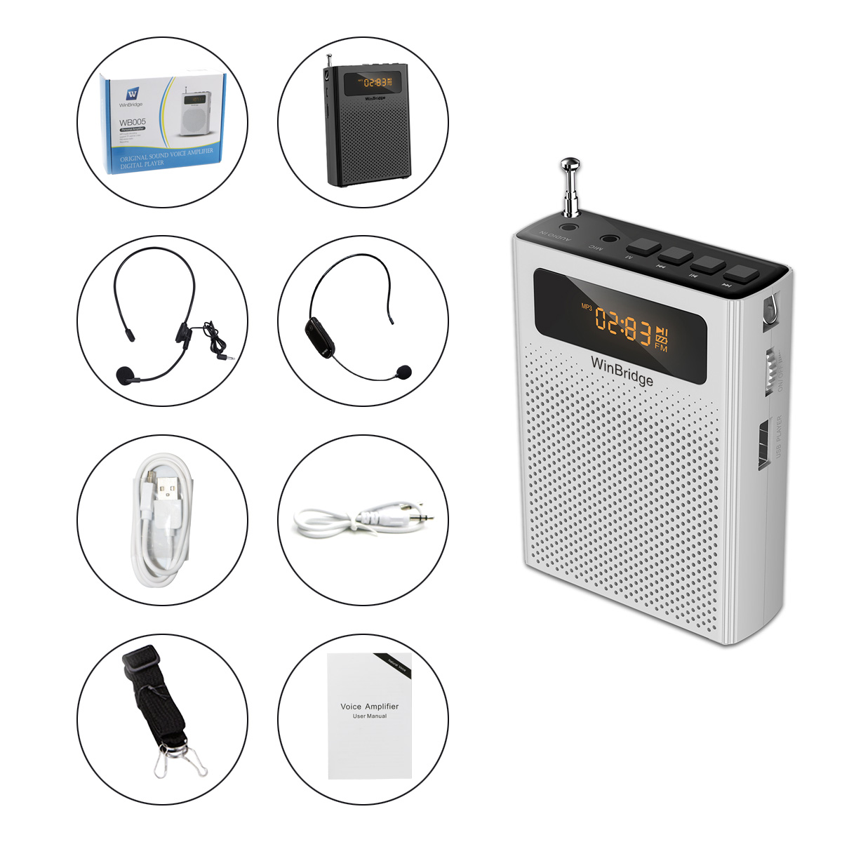 Winbridge winbridge voice amplifier factory for sale-15