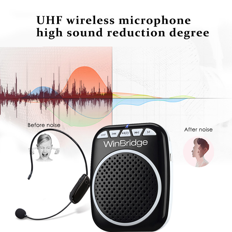 Winbridge personal voice amplifier with headset for teacher-9