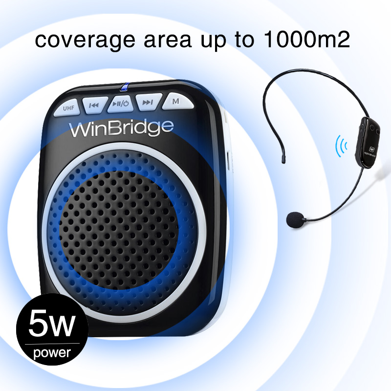 Winbridge personal voice amplifier with headset for teacher-12