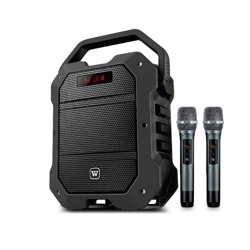 Winbridge K10 Multifunction 80 Watt UHF Wireless Karaoke Speaker with Dual Microphone