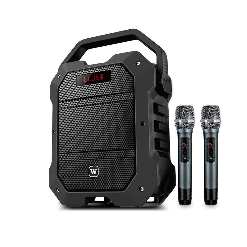 Winbridge K10 Multifunction 80 Watt UHF Wireless Karaoke Speaker with Dual Microphone