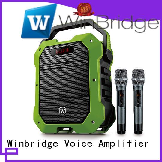 Winbridge uhf best portable karaoke speakers with dual microphone for sale