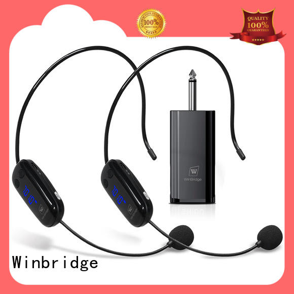 Winbridge recording wireless headset microphone system manufacturer for sale