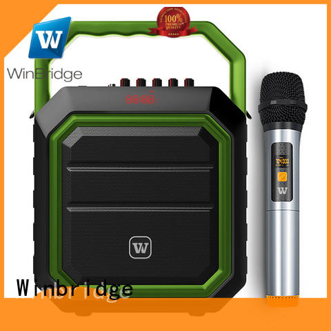 Winbridge voice karaoke microphone with speaker manufacturer for party