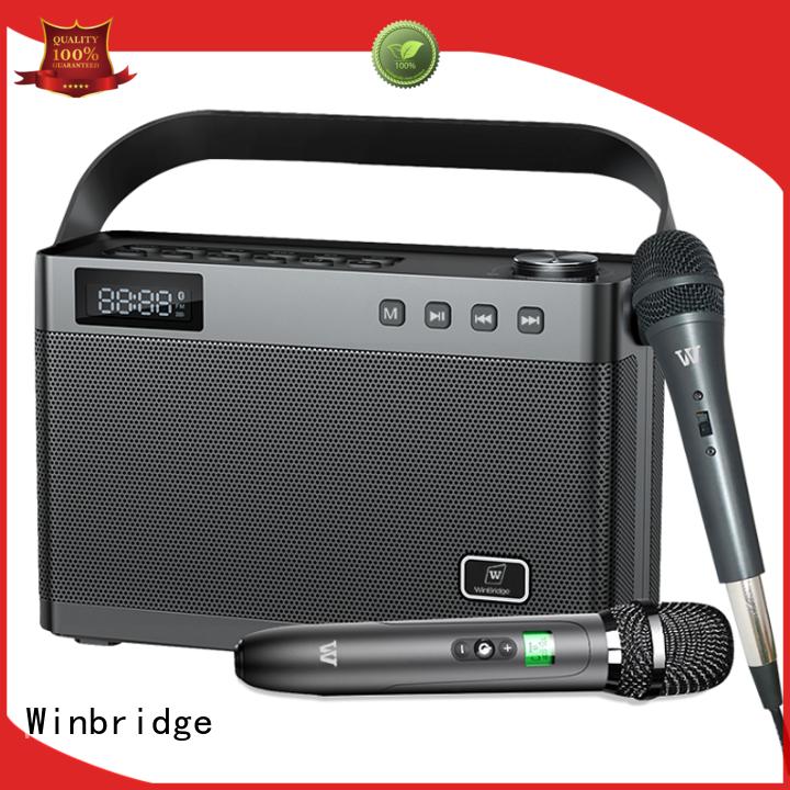 Winbridge karaoke mic with speaker supplier for dance