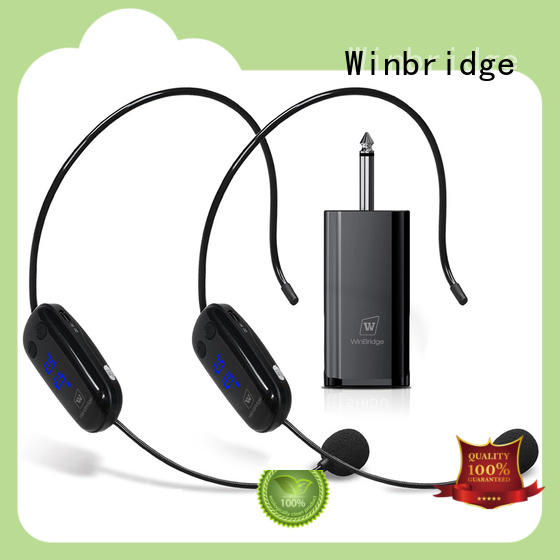 Winbridge high quality wireless karaoke microphone supplier for party