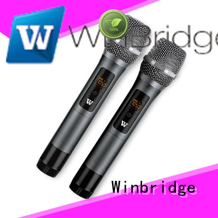 Winbridge dual wireless lapel microphone company for speech