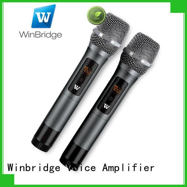 receiver recording decent range mic wireless Winbridge manufacture