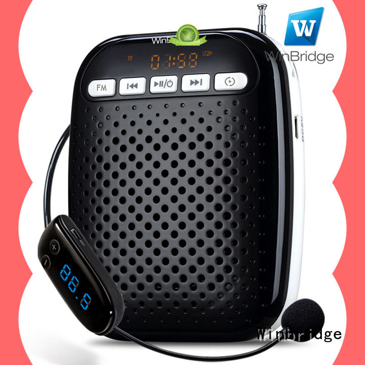 Winbridge customized personal voice amplification device with wireless microphone for teacher