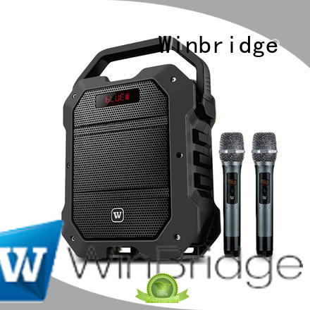 Winbridge uhf portable karaoke speaker winbridge for