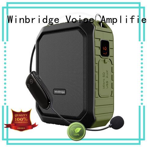 waterproof wireless mini teacher voice amplifier portable microphone speaker Winbridge manufacture