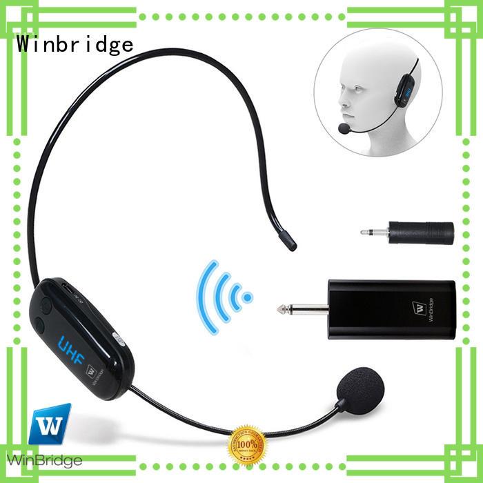 Winbridge portable best wireless microphone for singers for karaoke