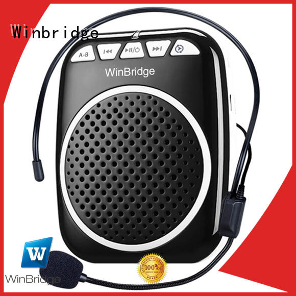 Winbridge watts voice amplifying device with headset for speech