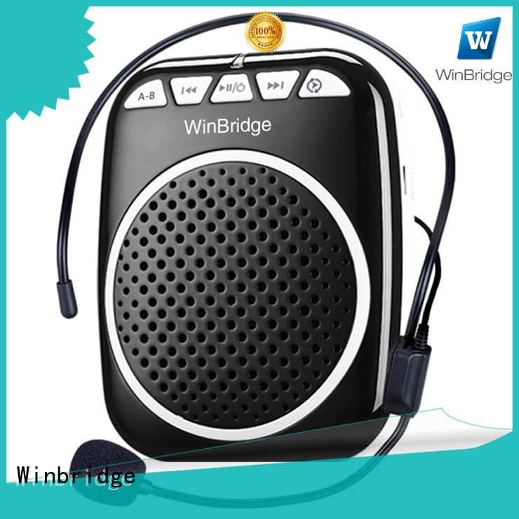 high end tour guide voice amplifier with wireless microphone for speech Winbridge