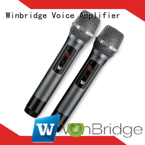 Winbridge wireless microphone headset supply for speech