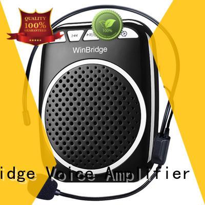 teacher voice amplifier portable microphone speaker portable winbridge waterproof Winbridge Brand company