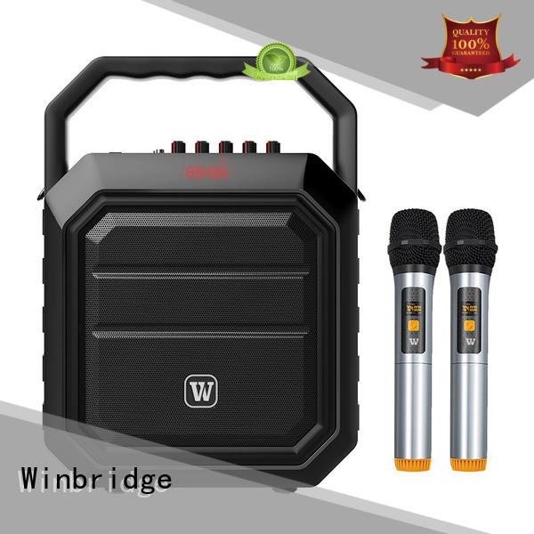 karaoke speaker with mic customized for street performance Winbridge