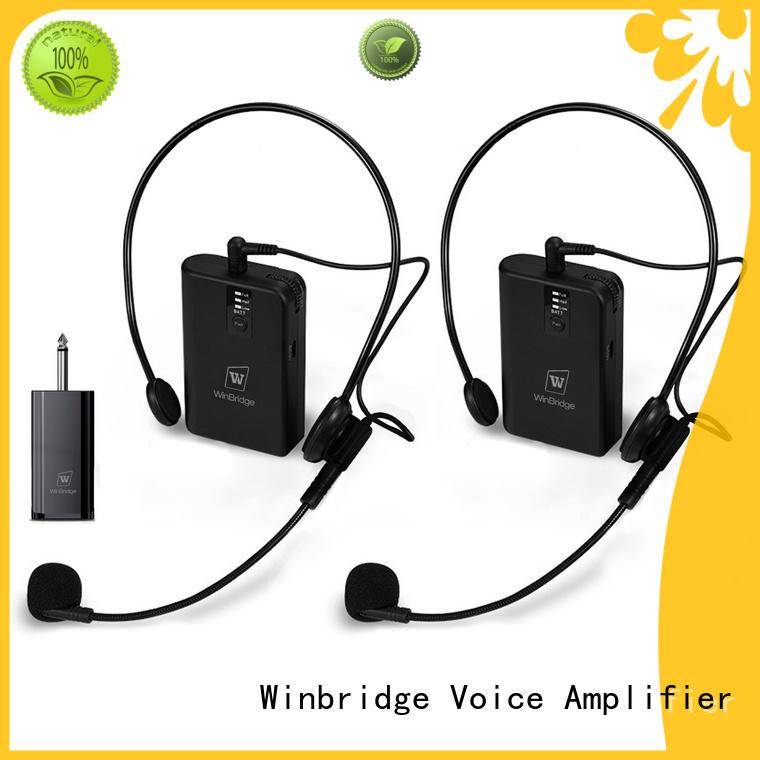 rechargeable wireless portable teacher voice enhancer Winbridge