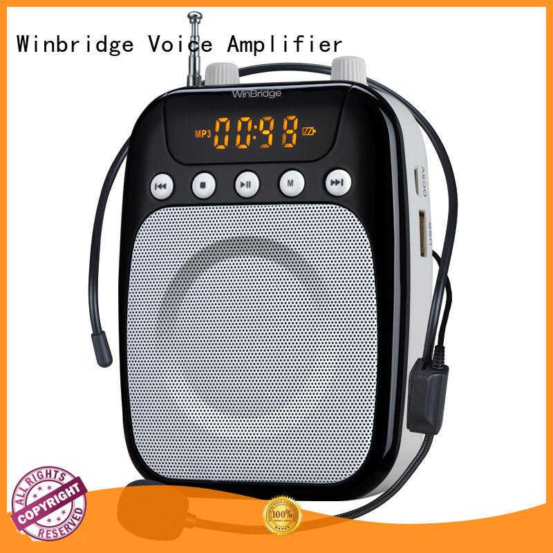 teacher voice amplifier portable microphone speaker rechargeable waistband teacher Winbridge Brand
