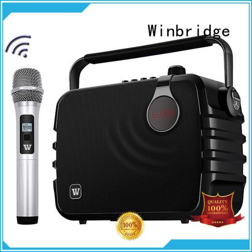 Winbridge karaoke microphone and speaker maker for dance
