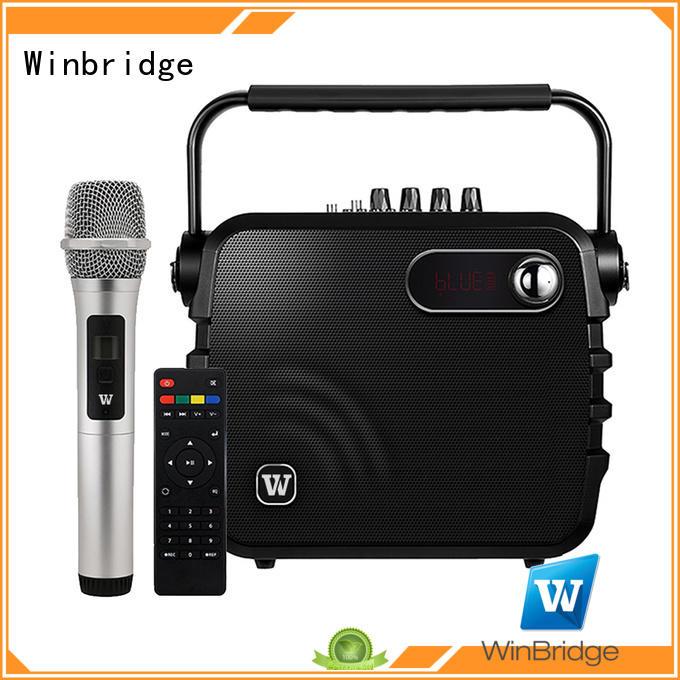 customized karaoke speaker microphone manufacturer for dance Winbridge