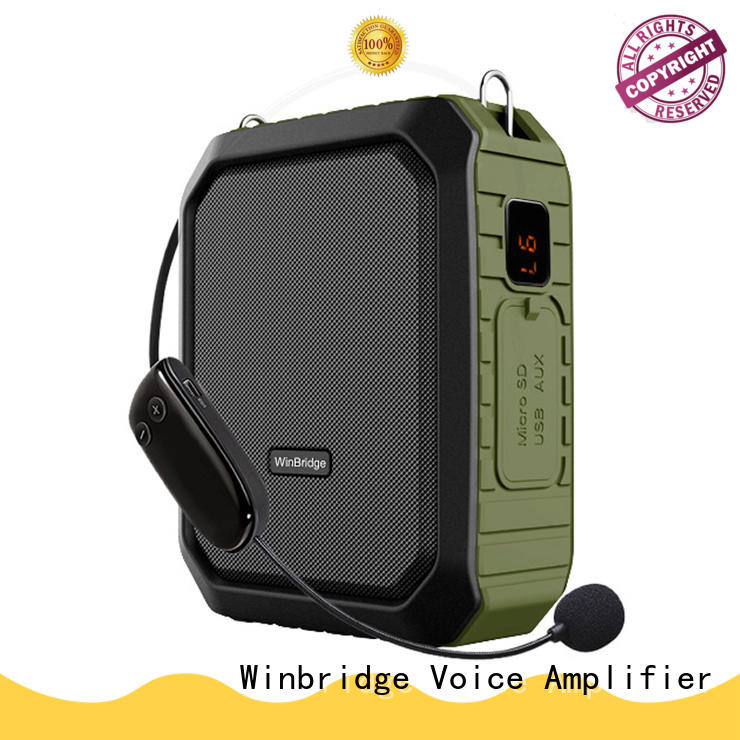 Winbridge portable personal voice amplifier waistband for
