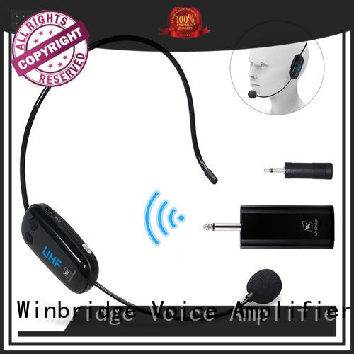high quality small microphone wireless with receiver microphone system for speech Winbridge