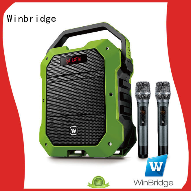 Winbridge portable karaoke microphone and speaker manufacturer for street performance