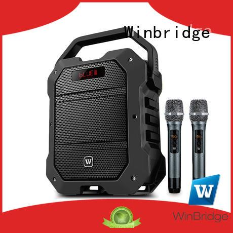 Winbridge karaoke microphone and speaker company for street performance