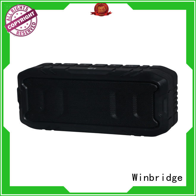 Winbridge mini bluetooth speaker box with touch panel for cafe