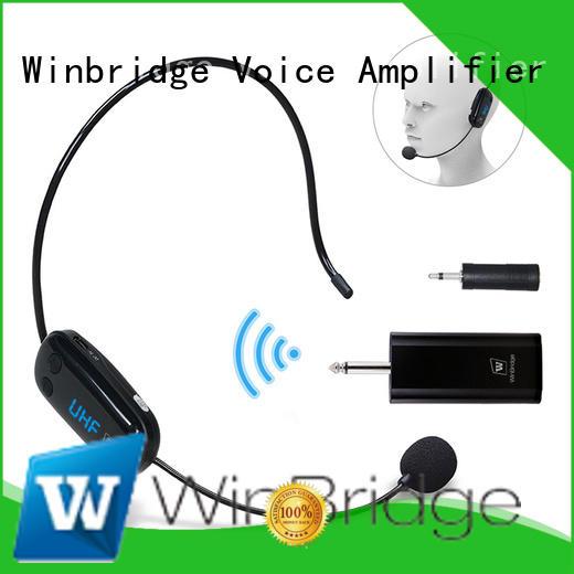 Winbridge portable wireless microphone system for busniess for karaoke