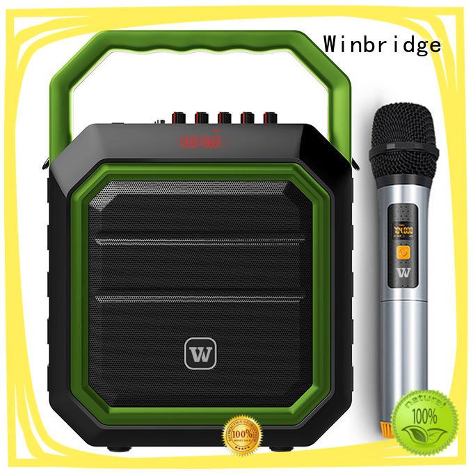 Winbridge karaoke microphone and speaker company for party