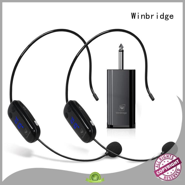 Winbridge wireless lapel microphone supplier for party