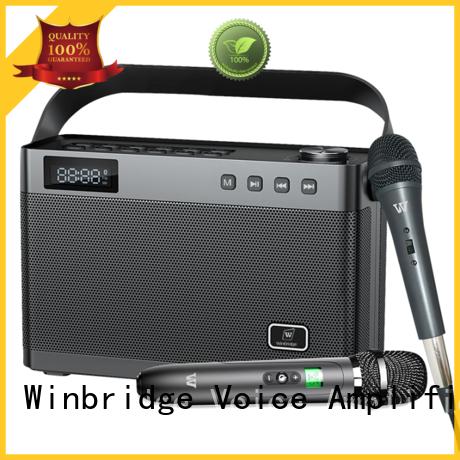 Winbridge karaoke speaker with microphone company for party