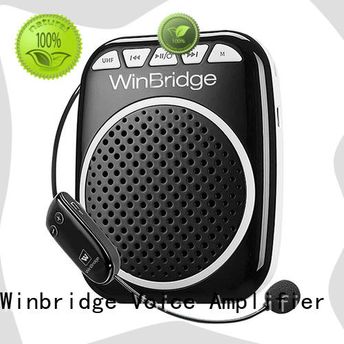 Winbridge uhf voice amplifier for classroom with wireless microphone for teacher